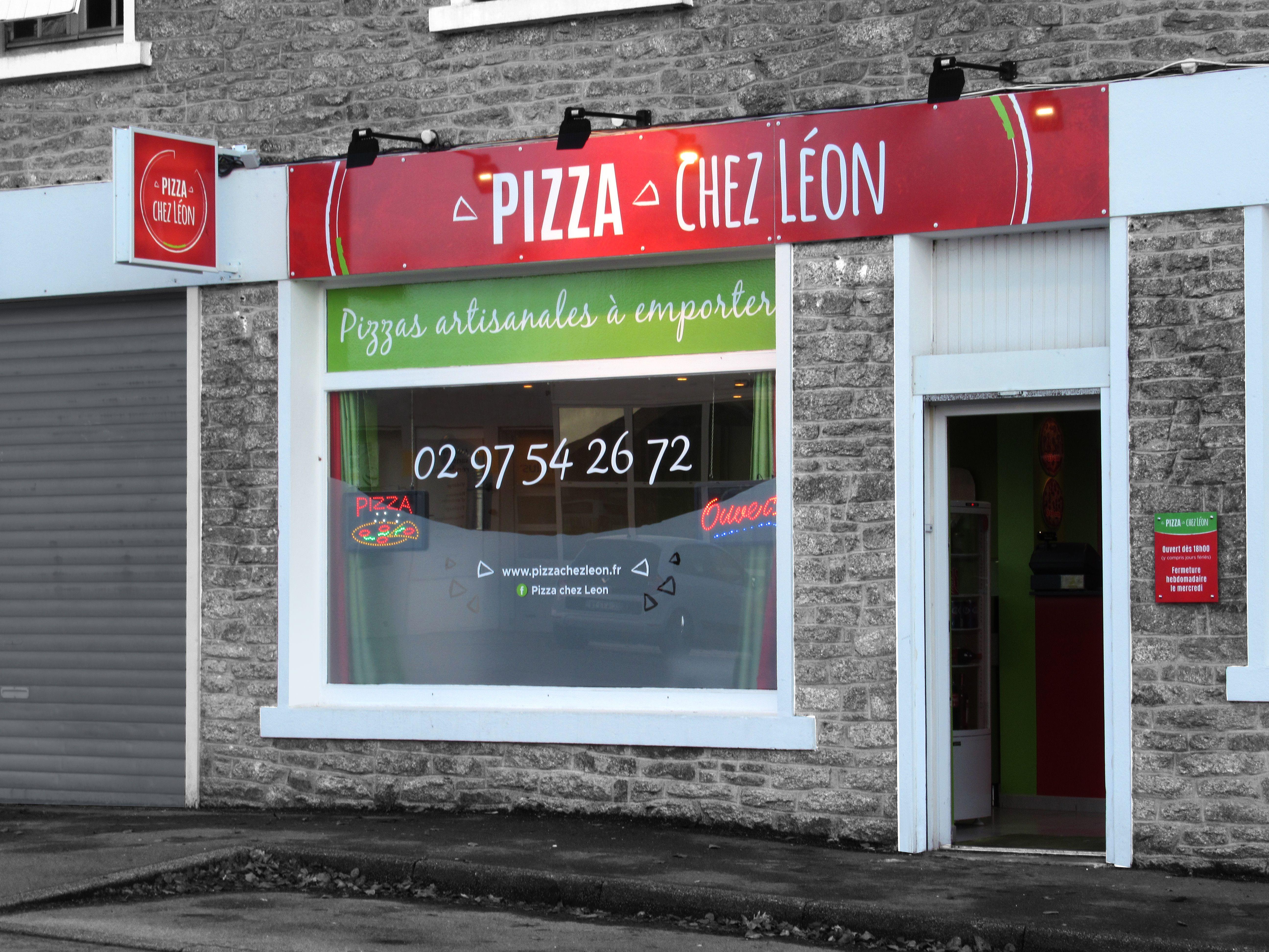 vitrine pizza chez leon