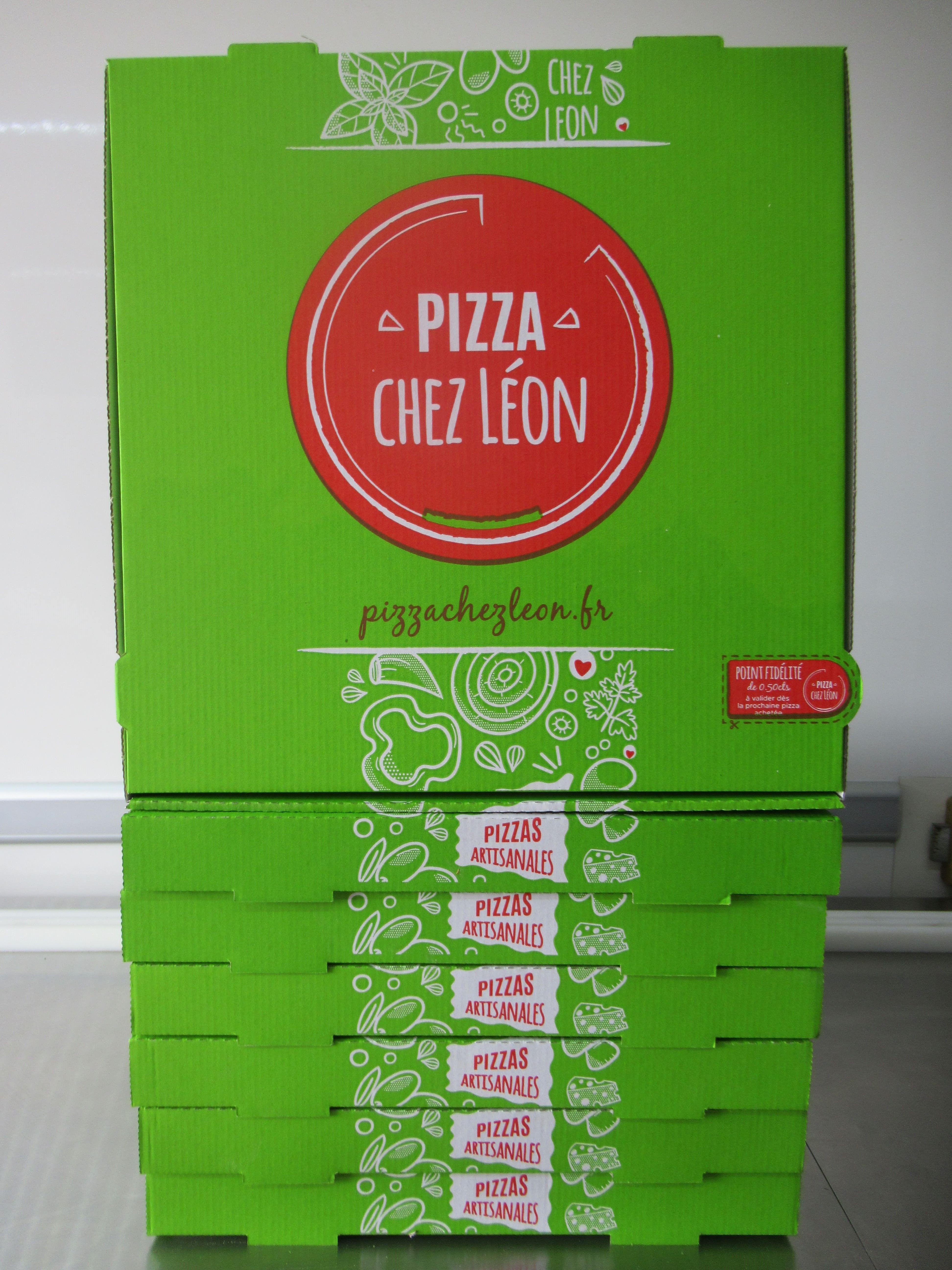 Les nouvelles boîtes à pizza sont arrivées